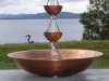 "21"" Hammered Copper Basin"